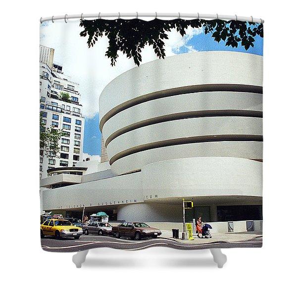 The Guggenheim Shower Curtain by Allen Beatty