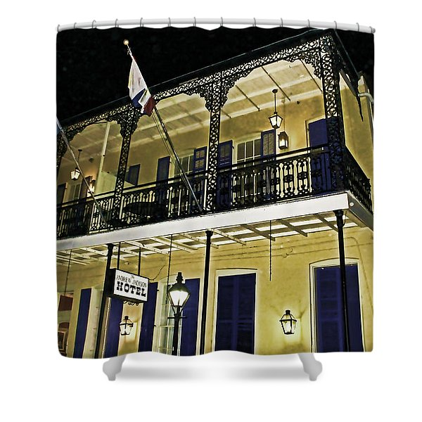 The Haunted Hotel Shower Curtain by Judy Vincent