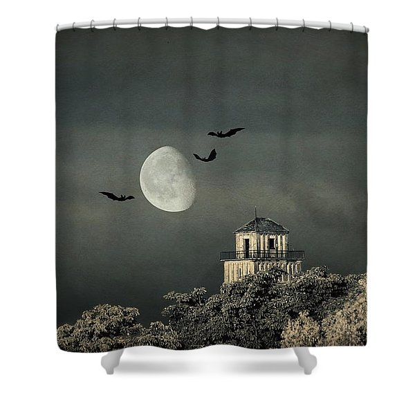 The haunted house Shower Curtain by Heike Hultsch