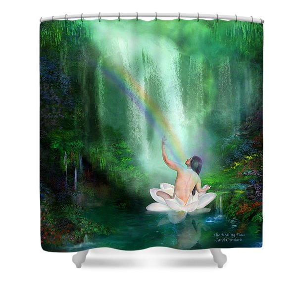 The Healing Place Shower Curtain by Carol Cavalaris