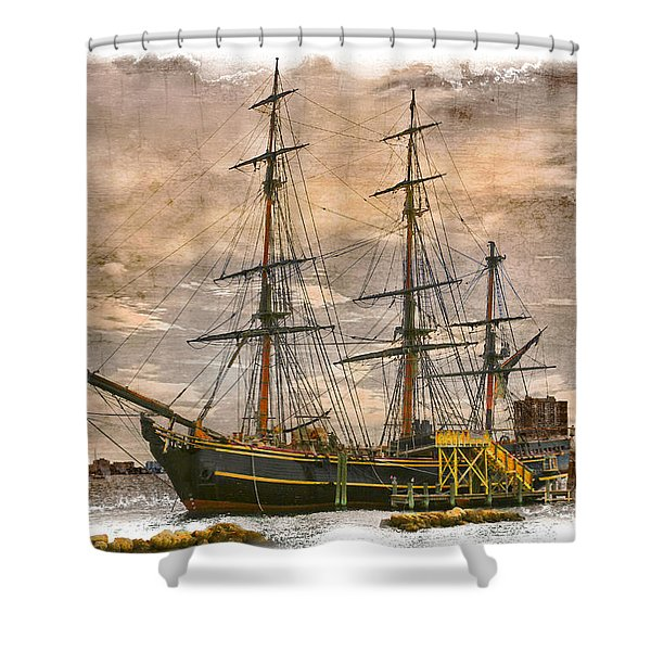 The HMS Bounty Shower Curtain by Debra and Dave Vanderlaan
