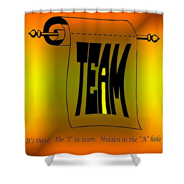 The i in Team Shower Curtain by Steve Harrington