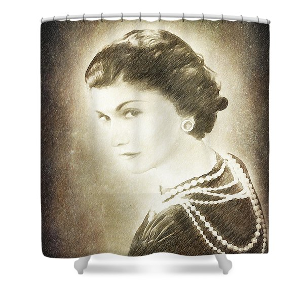 The Icon Of Elegance Shower Curtain by Angela A Stanton