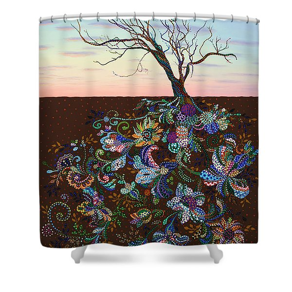 The Journey Shower Curtain by James W Johnson