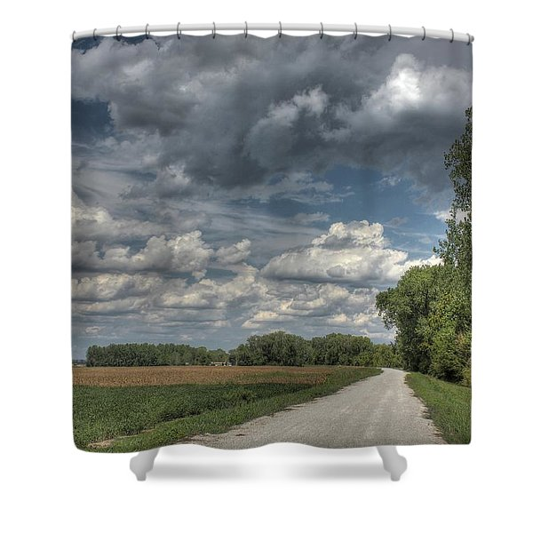 The Katy Trail Shower Curtain by Jane Linders