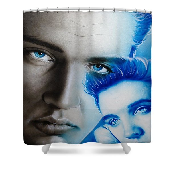 'the King' Shower Curtain by Christian Chapman Art