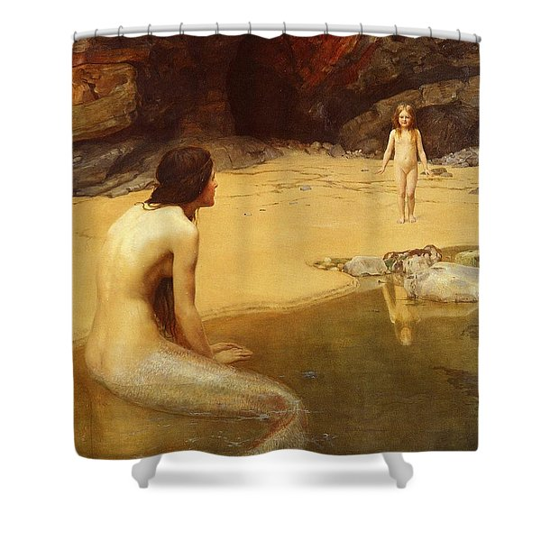 The Land Baby Shower Curtain by John Collier
