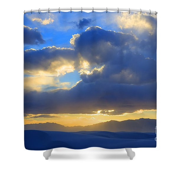The Land Of Enchantment Shower Curtain by Bob Christopher