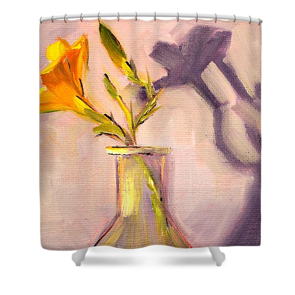 The Last Lily Shower Curtain by Nancy Merkle