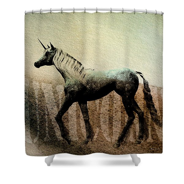 The Last Unicorn Shower Curtain by Bob Orsillo