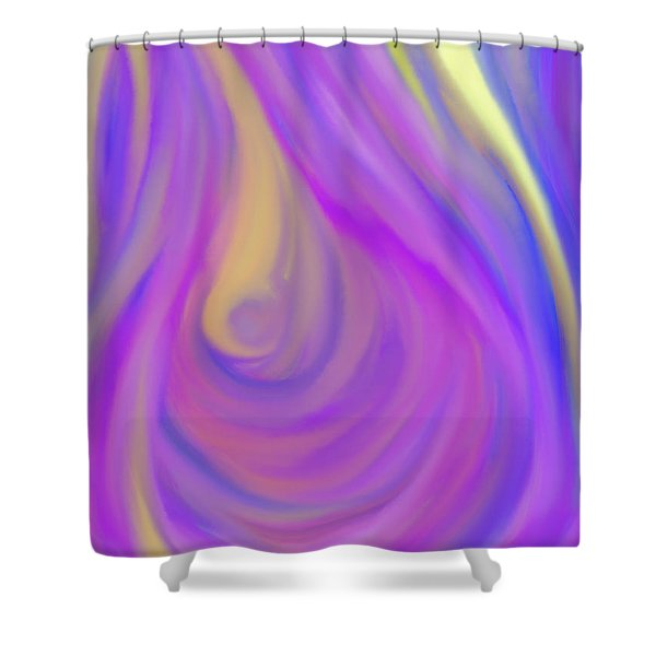 The Light of the Feminine Ray Shower Curtain by Daina White