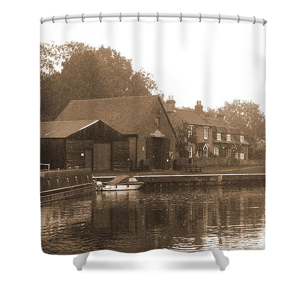 The Lock Keeper's Cottage Shower Curtain by Terri  Waters