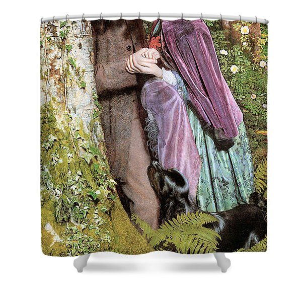 The Long Engagement Shower Curtain by Arthur Hughes