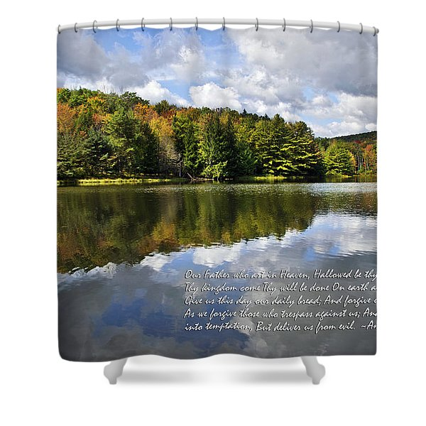 The Lord's Prayer Shower Curtain by Christina Rollo