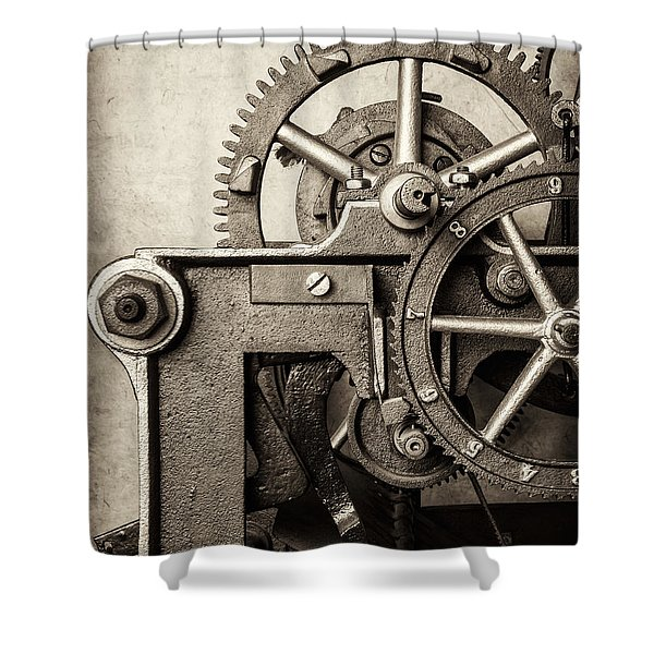 The Machine Shower Curtain by Martin Bergsma