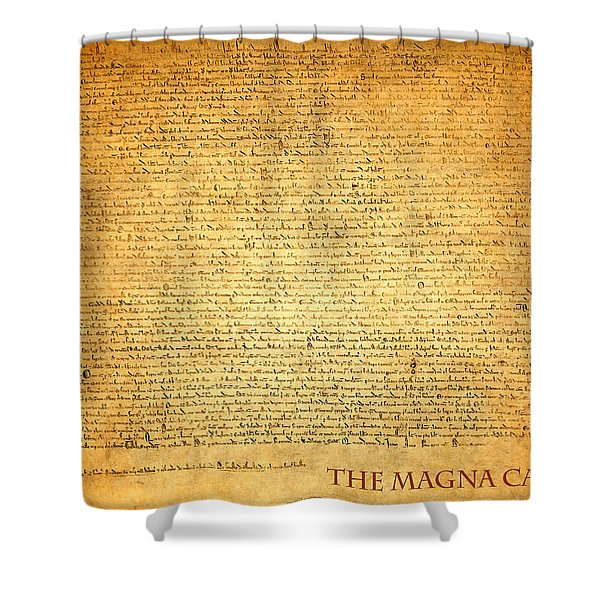 The Magna Carta 1215 Shower Curtain by Design Turnpike