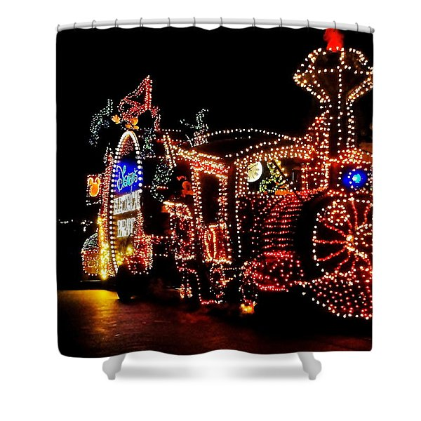 The Main Street Electrical Parade Shower Curtain by Benjamin Yeager
