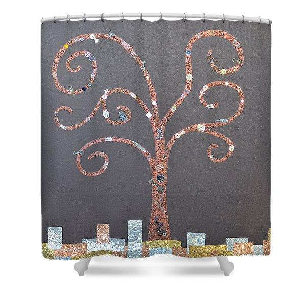 The Menoa Tree Shower Curtain by Angelina Vick