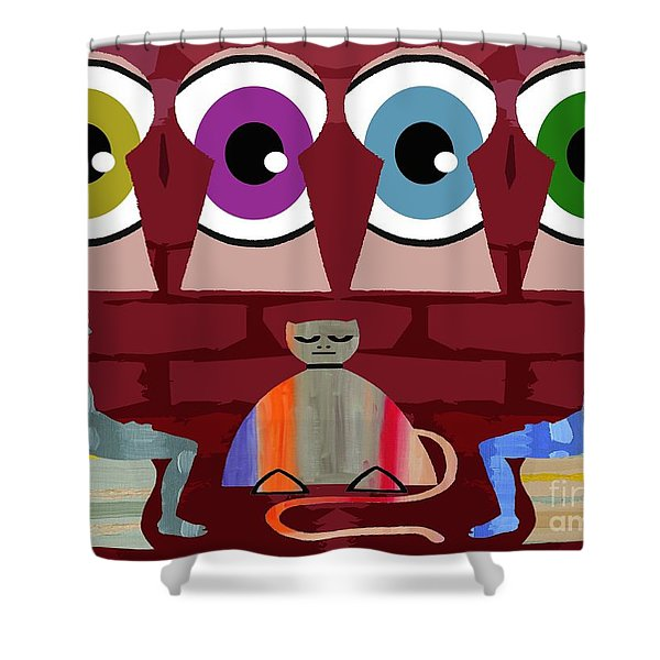THE NEGOTIATIONS Shower Curtain by Patrick J Murphy