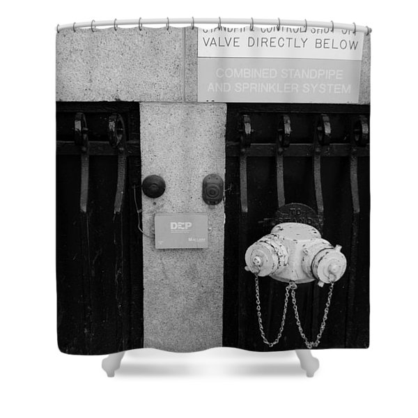 The New Normal In Black And White Shower Curtain by Rob Hans
