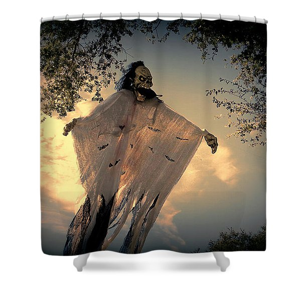 The Nightmare Begins Shower Curtain by Dorothy Menera