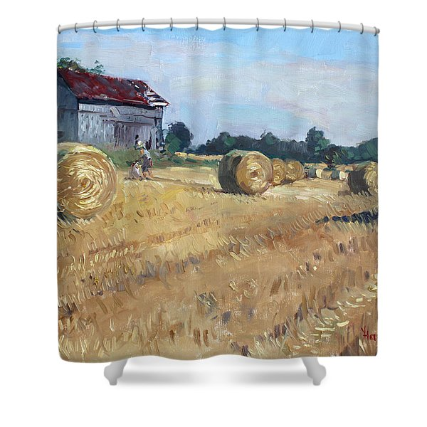 The Old Barns In Georgetown On Shower Curtain by Ylli Haruni