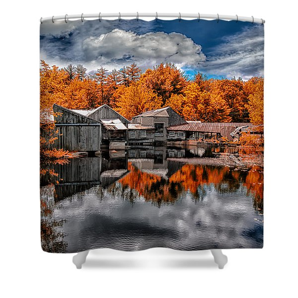 The Old Boat House Shower Curtain by Bob Orsillo