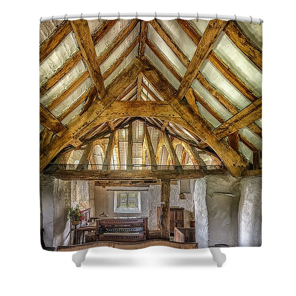 The Old Church Shower Curtain by Adrian Evans
