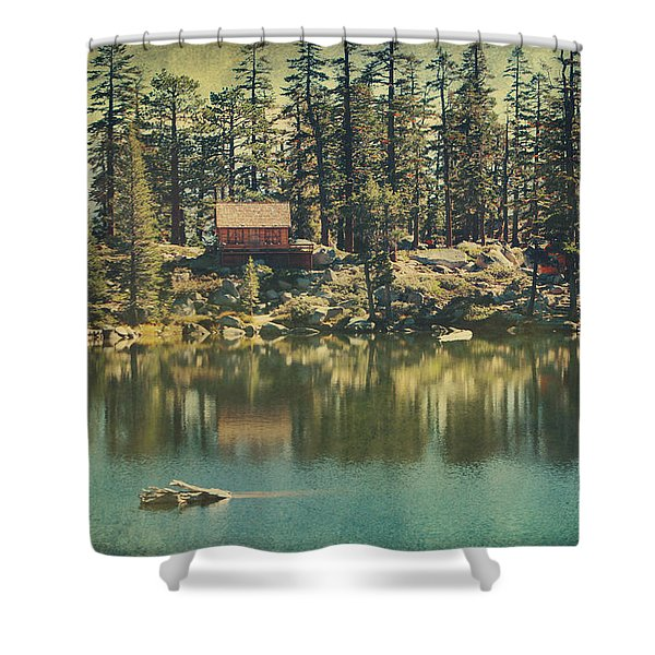 The Old Days by the Lake Shower Curtain by Laurie Search