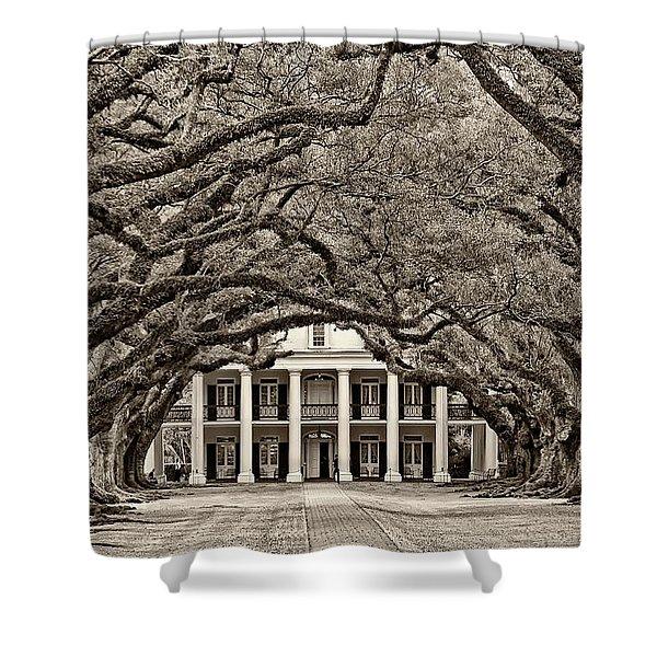 The Old South sepia Shower Curtain by Steve Harrington