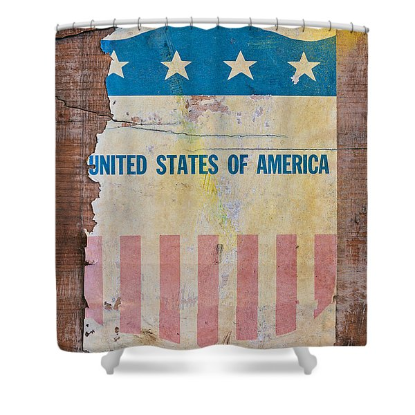 The Old Tag Shower Curtain by Martin Bergsma