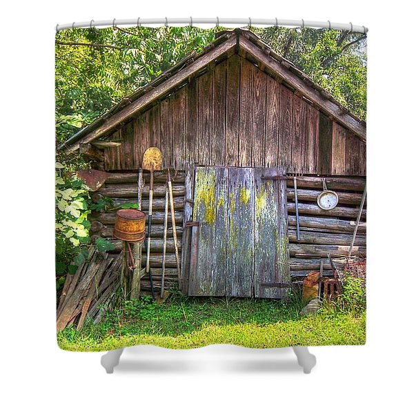 The Old Tool Shed II Shower Curtain by Lanita Williams