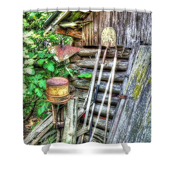 The Old Tool Shed Shower Curtain by Lanita Williams
