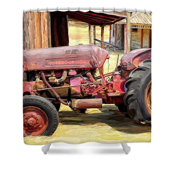 The Old Tractor Shower Curtain by Michael Pickett