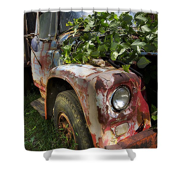 The Old Truck Shower Curtain by Debra and Dave Vanderlaan