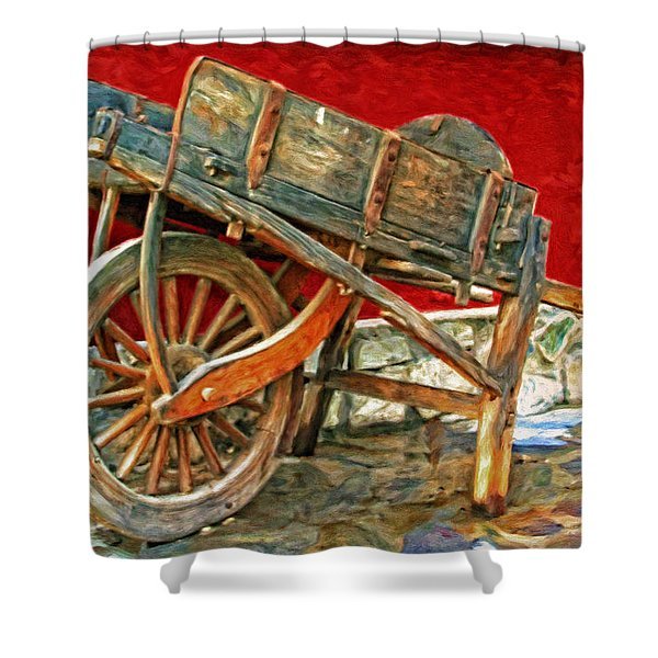 The Old Wheelbarrow Shower Curtain by Michael Pickett