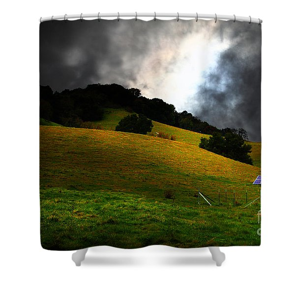 The Old Windmill - 5D21059 Shower Curtain by Wingsdomain Art and Photography
