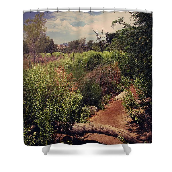 The Past is Gone Shower Curtain by Laurie Search