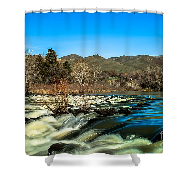 The Payette River Shower Curtain by Robert Bales