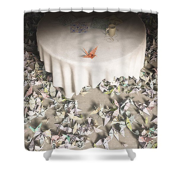 The Perfectionist Shower Curtain by Cynthia Decker