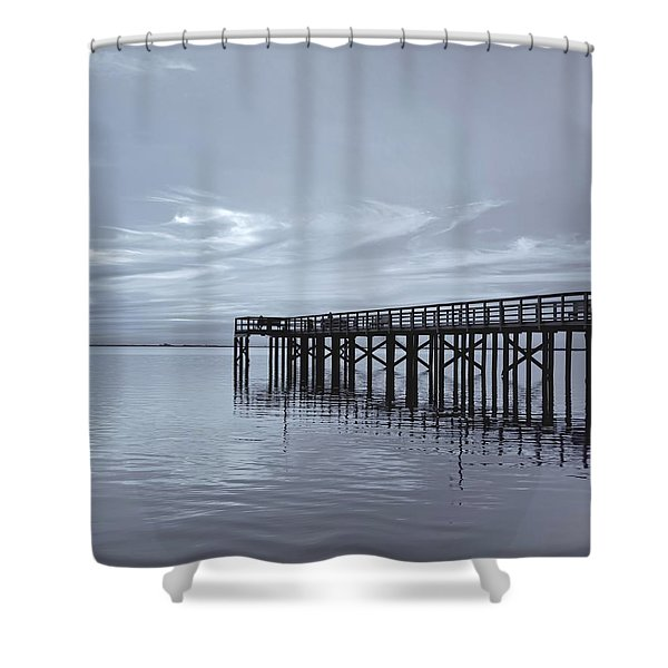The Pier Shower Curtain by Kim Hojnacki