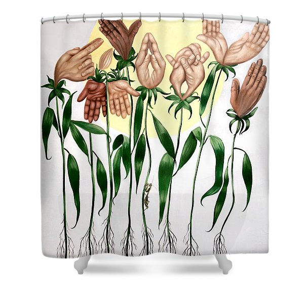 The Prayer Garden Shower Curtain by Anthony Falbo