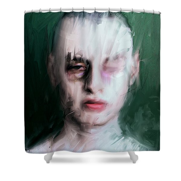 The Pugilist Shower Curtain by H James Hoff