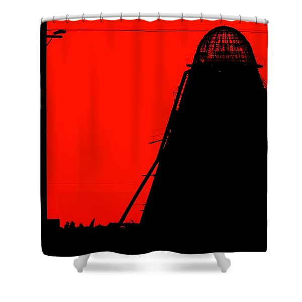 The Red Mill Shower Curtain by Jessica Shelton