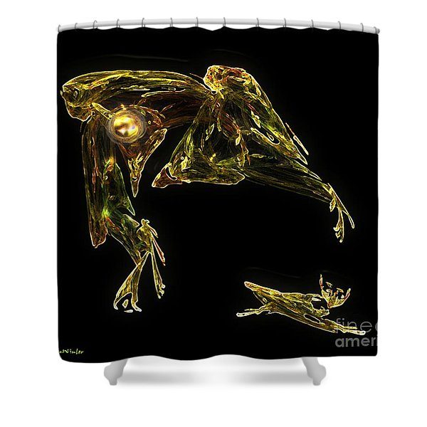 The Reluctant Familiar Shower Curtain by RC DeWinter