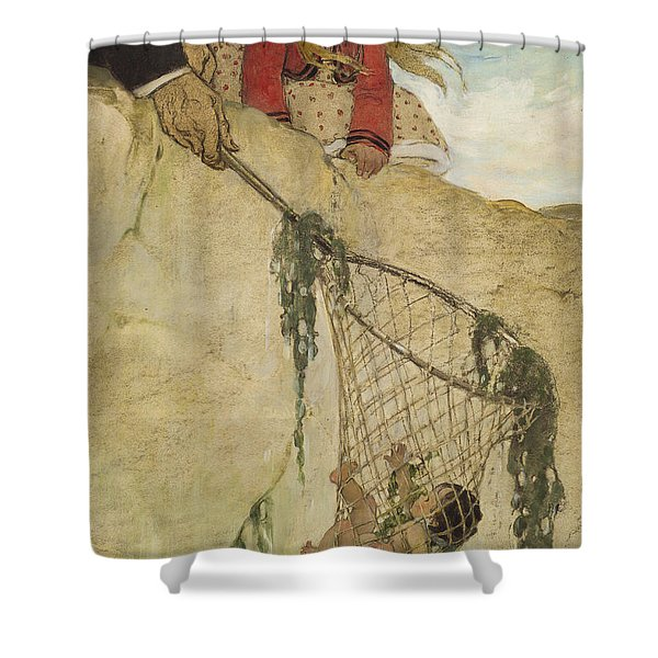 The Rescue Circa 1916 Shower Curtain by Aged Pixel