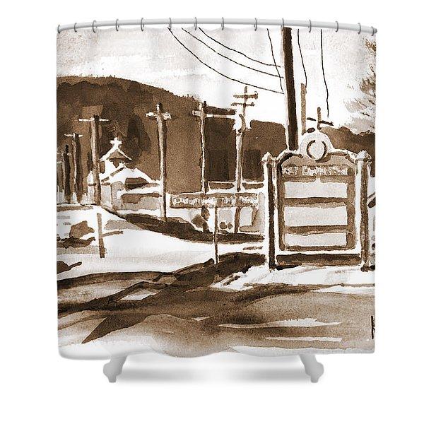The Road To Farmington Pilot Knob Missouri Shower Curtain by Kip DeVore