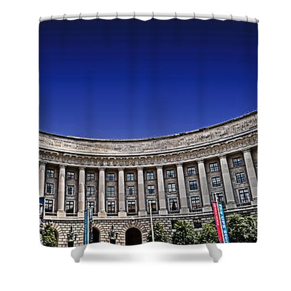 The Ronald Reagan Building And International Trade Center Shower Curtain by Tom Gari Gallery-Three-Photography