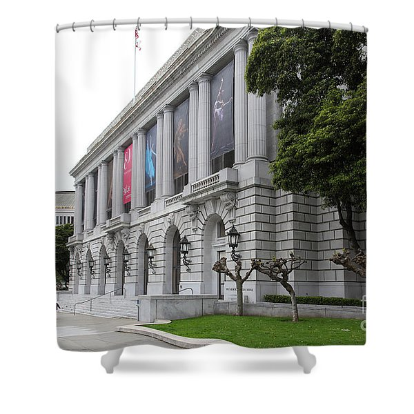 The San Francisco War Memorial Opera House - San Francisco Ballet 5d22485 Shower Curtain by Wingsdomain Art and Photography