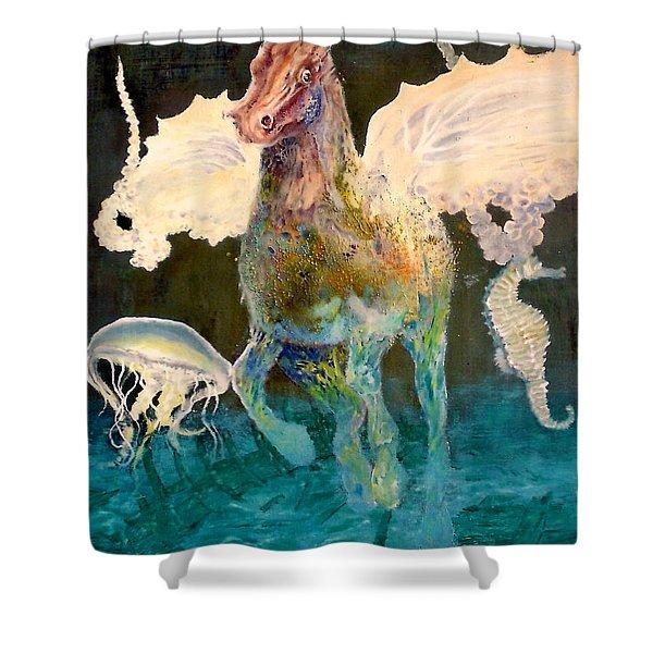The Seahorse Shower Curtain by Henryk Gorecki